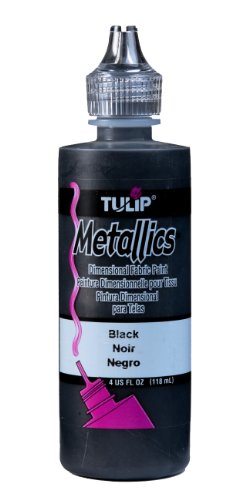 Tulip 17373 Dimensional Fabric Paint 4oz Metallic Black