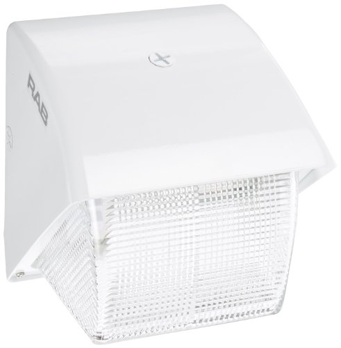 RAB Lighting WP1GF42W WP1 CFL Wallpack with Prismatic Glass Lens, Triple Type, Aluminum, 42W Power, 3200 Lumens, 277V, White