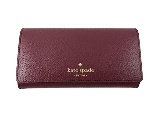 Kate Spade New York Grand Street Nika Leather Clutch ID Wallet in Merlot by Kate Spade New York