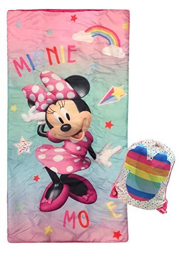 Jay Franco Disney Minnie Mouse Bowtique Slumber Sack - Cozy & Warm Kids Lightweight Slumber Bag/Sleeping Bag (Official Disney Product)