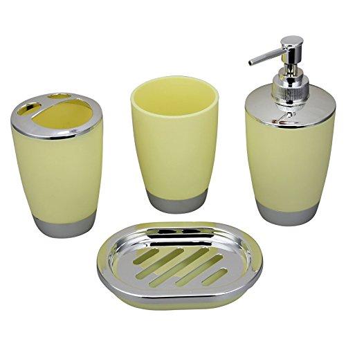 Bluelasers bath countertop accessory set soap dispenser for Bathroom wastebasket sets