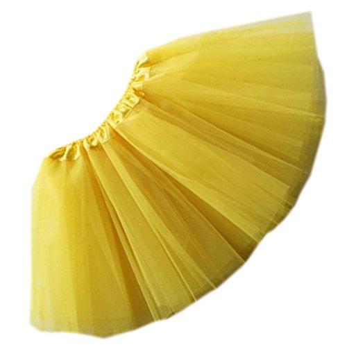 [Costhat 5 Layered Tulle Tutu Cheerleader Skirt Costume Girl's Kids Ballet Dress] (Settlers Of Catan Costumes)