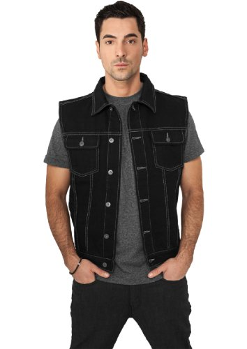 "Urban Classics Jeansweste ""Denim Vest"" blackraw XXL"