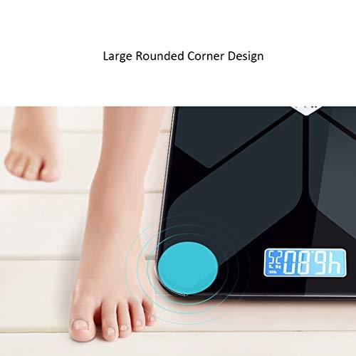 LF Stores La Carga por USB Peso Digital baño balanza electrónica Templado Vidrio precisión Salud Que Pesa 397 Libras: Amazon.es: Hogar