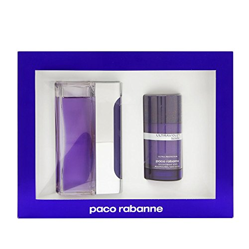 Ultraviolet Man Edt (Ultraviolet By Paco Rabanne For Men. Gift Set ( Eau De Toilette Spray 3.4 Oz + Alcohol Free Deodorant Stick 2.1 Oz ).)
