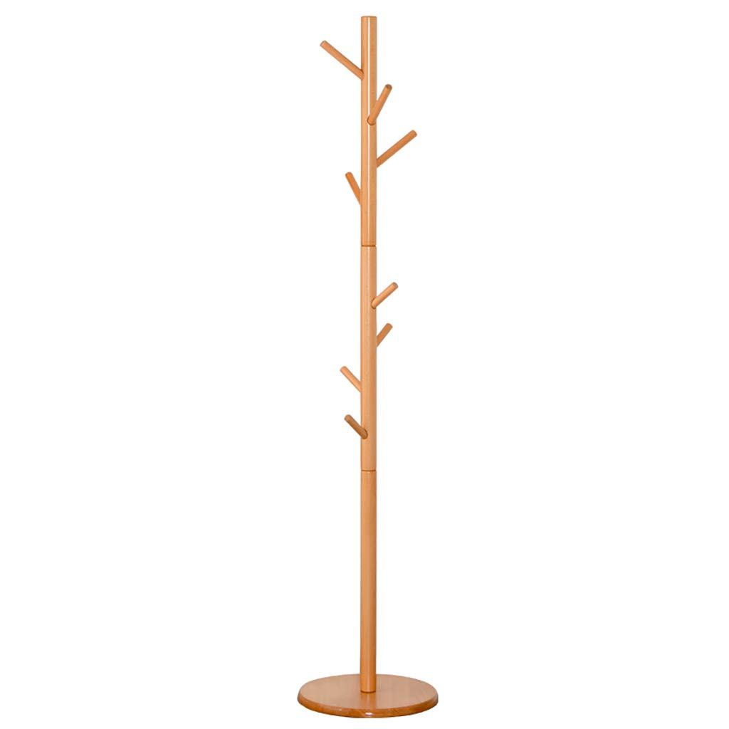 NSS Floor-Standing Coat Rack Solid Wood Clothes Tree Hallstand Simple Suitable for Bedroom Living Room and Other Scenes Hall Tree
