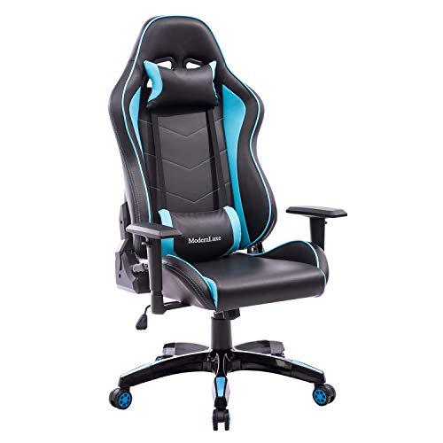 Merax Gaming Racing Chair Office Chair High Back Reclining Chair Ergonomic Mesh Chair High Back Computer Chair (Blue) Merax