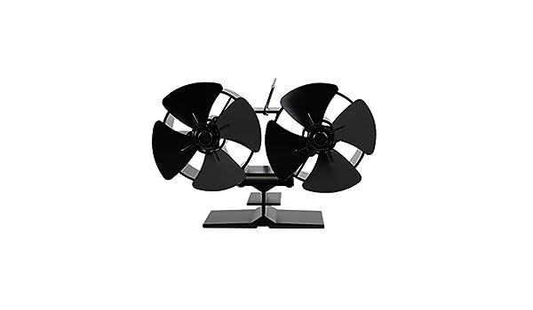 Ventilador de chimenea MOMU Dual Head con 8 hojas, funcionamiento ...