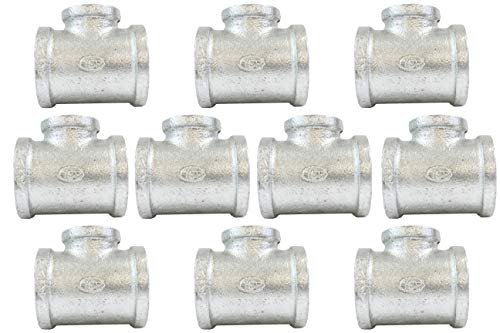 "CMI Inc Galvanized Pipe Fittings | 3/4"" Tee 10 PACK 