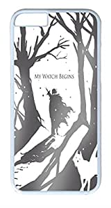 iphone 6 plus Case iphone 6 plus Cases VUTTOO Game of Thrones Jon Snow Ghost the Nights Watch Polycarbonate Hard Case Back Cover for iphone 6 plus 5.5inch White