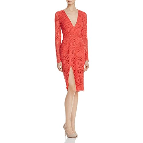 StyleStalker Womens Sabine Lace Sheath Cocktail Dress Orange M by StyleStalker