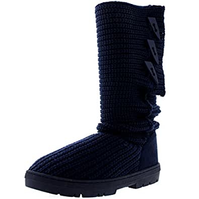 Amazon.com | Holly Womens Snow Boot Nylon Tall Winter Snow