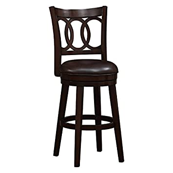 Awesome Amazon Com Home Fare Elon 30 Wood Swivel Bar Stool Ibusinesslaw Wood Chair Design Ideas Ibusinesslaworg
