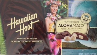 Hawaiian Host Aloha Macs Milk Chocolate Macadamia Nuts (7 ounce box, 14 pieces) (1 (Mac Nut)