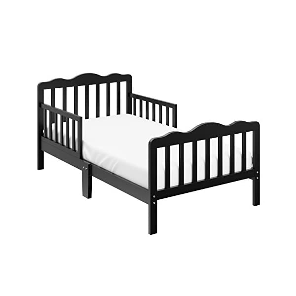 Storkcraft Hillside Toddler Bed Black, Fits Standard-Size Toddler Mattress (Not Included), Guardrails on Both Sides, Meets or Exceeds All Federal Safety Standards, Pine & Composite Construction