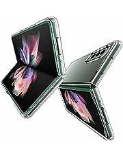 FTRONGRT Fodral kompatibelt för Samsung Galaxy Z Fold 3 5G fodral, mjuk TPU + hård PC, repskydd, transparent skyddsfodral är lämpligt för Samsung Galaxy Z Fold 3 5G (Transparent)