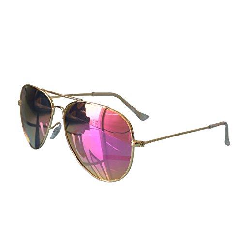 ASLNsong Aviator Sunglasses Polarized Mirrored Fishing Driving Golf(Gold Frame/Purple - Mirrored Aviator Prescription Sunglasses