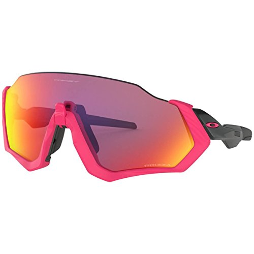Oakley Men's Flight Jacket Sunglasses,OS,Polished Black/Neon Pink Review