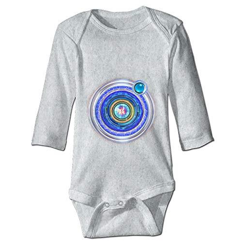 YSKHDBC Funny Infant Baby Bodysuit Big Blue Orbit