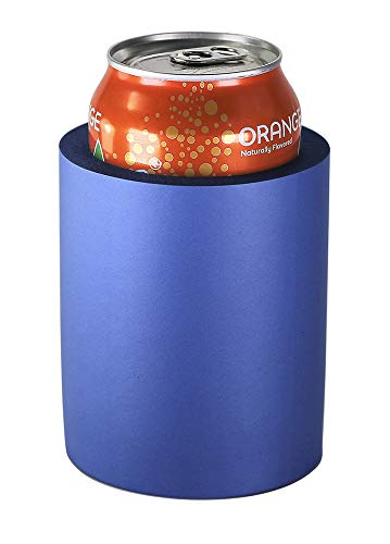 Pinnacle Mercantile Beer Can Coolers Thick Insulators Foam Non-Collapsible Royal Blue Set 6 ...