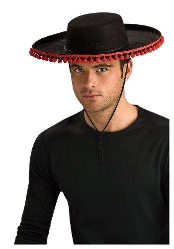 Adult Durashape Spanish Hat w/ Pompoms (Adult Durashape Spanish Hat w/ Pompoms) (Felt Sombrero)