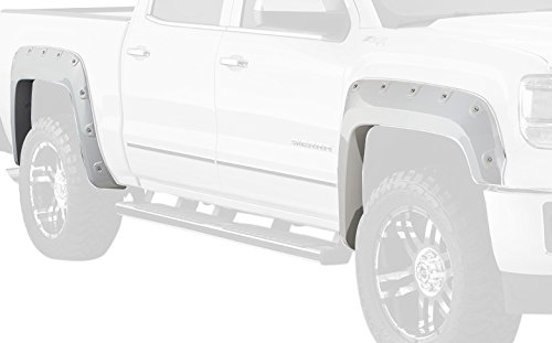 Bushwacker 40958-34 Onyx Black Fender Flare for GMC, (Set of 4)