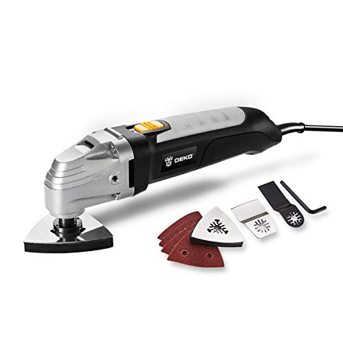 DEKO 110V Oscillating Tool Electric Multifunction Variable Speed Multi Tool Kit Multi-Tool Power Tool Electric Trimmer Saw Accessories (Best Oscillating Multifunction Tool)