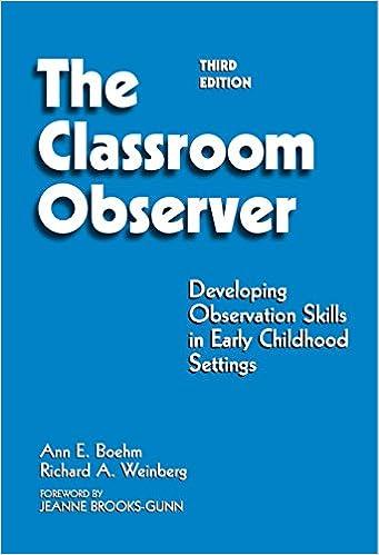 Classroom Observer Developing Observation