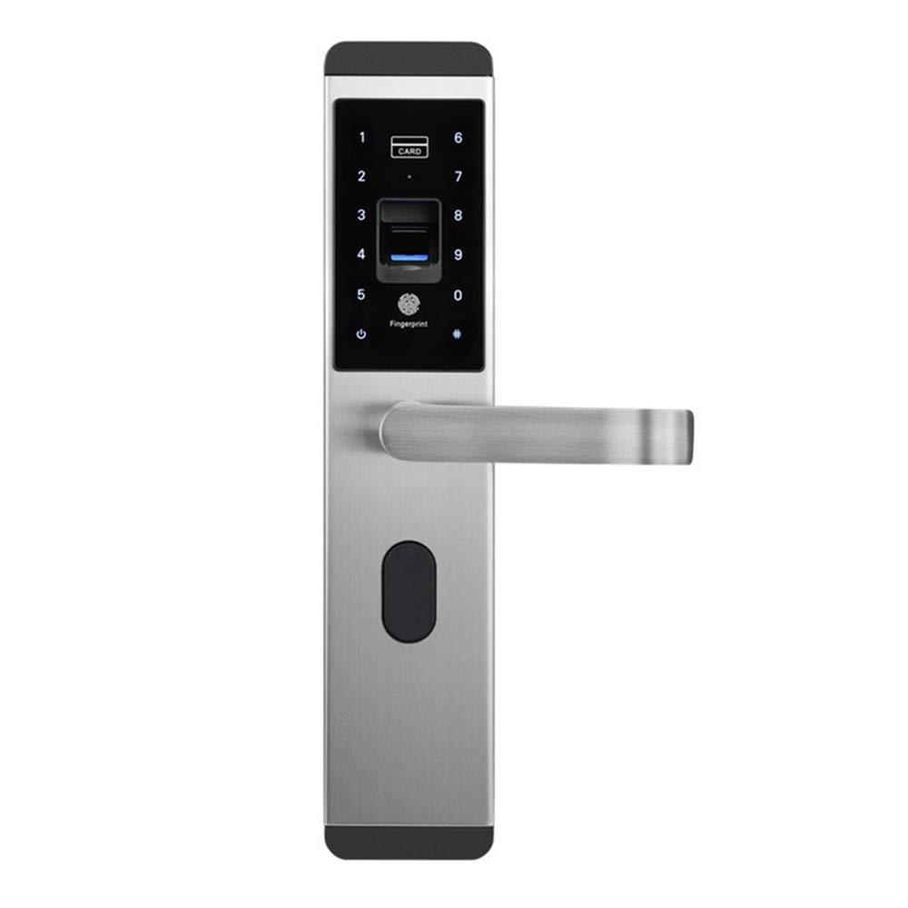 Intelligentes Lock Smart 4 in 1 Haust/ürschloss mit Schl/üssel WAZA Fingerprint T/ürschl/össer Chipkarte Zahlencode Funktion