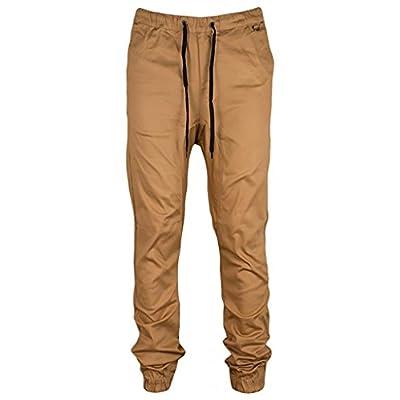 Cheap ReVeaL Men's Basic Twill Slim Fit Jogger Pants hot sale