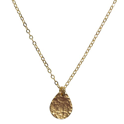 - Nathis Hammered Teardrop Necklace