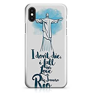 iPhone X Case Rio Famous World Destination Low Profile Quality Wrap Around iPhone 10 Case