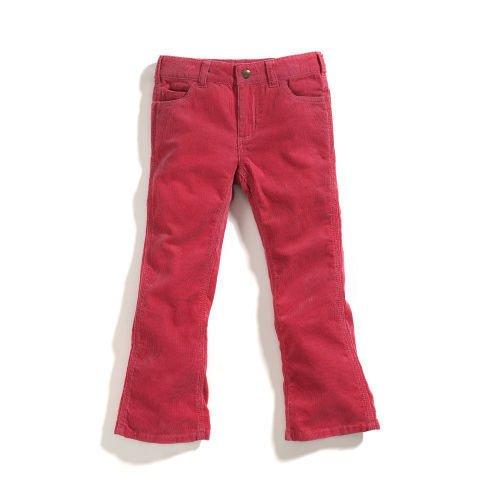 Carhartt Big Girls' Washed 5 Pocket Corduroy Pant,Claret,L/12 - 5 Pocket Washed Corduroy Pants