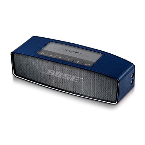 kwmobile Elegant Synthetic Leather case for Bose SoundLink Mini Speaker in Dark Blue