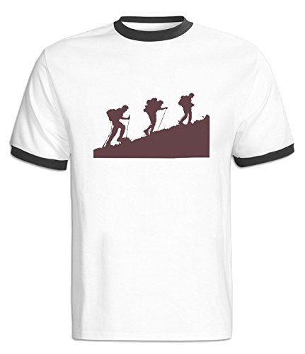 LuopeG Mountaineering Contrast Color Tshirts For Mens XS - Mall Outlet Buffalo