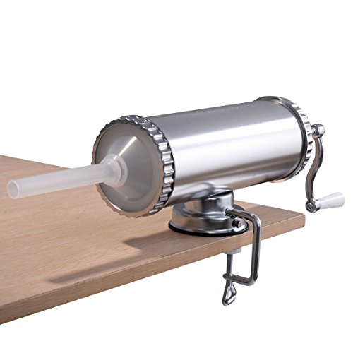 3L Manual Sausage Stuffer Maker Meat Filler Machine w/ Suction Base Commercial - By Choice Products
