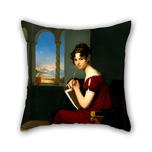 MaSoyy The Oil Painting Vogel Von Vogelstein, Carl Christian - Young Lady With Drawing Utensils Throw Pillow Covers Of ,20 X 20 Inches / 50 By 50 Cm Decoration,gift For Christmas,gf,bedding,deck Cha (Vogels Philip)