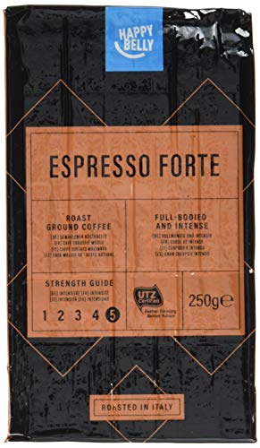 "Amazon-Marke: Happy Belly Gemahlener Röstkaffee ""Espresso Forte"" (4 x 250g)"