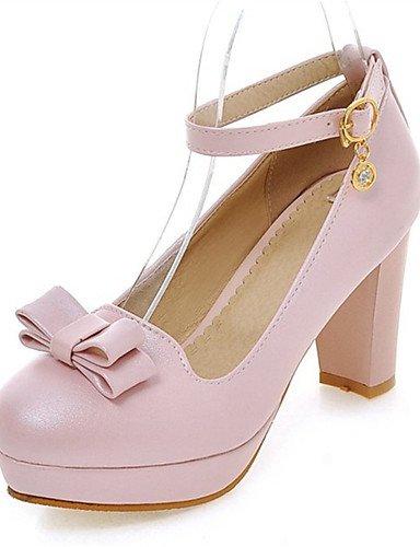 Rosa 5 negro tac¨®n Mujer 5 Robusto Blanco us10 Uk8 us10 Zq Eu42 tacones boda Noche De 5 Cn43 Pink Fiesta tacones Vestido semicuero Y Black Casual Zapatos qFxxZp