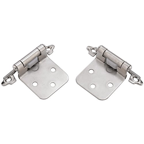 KINGO HOME Face Mount Self Closing Variable Overlay Satin Nickel Cabinet Hinges, 50-Pack by KINGO HOME (Image #6)