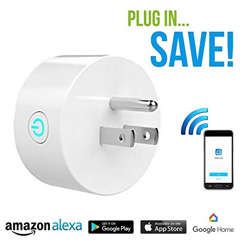 Smart Plug Mini Device By Tip-Top Home Goods: No Hub Required, Wi-FI, Compatible with Alexa and Google Home, Control your Devices from Anywhere