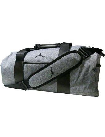 Jordan JORDAN UNSTRUCTURED DUFFEL unisex-adult sports-duffel-bags BA8064-063_MISC - DK GREY HEATHER/BLACK by Jordan