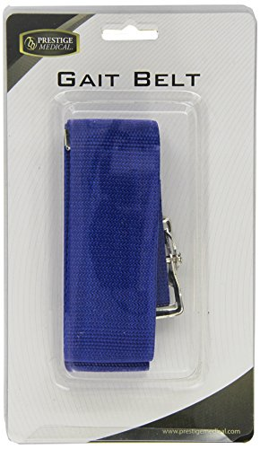 Prestige Medical Nylon Gait Transfer Belt with Metal Buckle, Roy, 4.3 Ounce