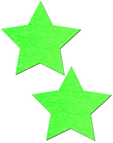 Neon Green/Glow-in-the-Dark Star Nipple Pasties by Pastease o/s - Sexy Neon Outfits