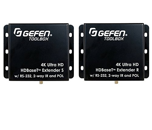 (Gefen CI GTB-UHD-HBT 4K Ultra DBase Extender Over One CAT-5 with RS-232, 2-Way IR, and)