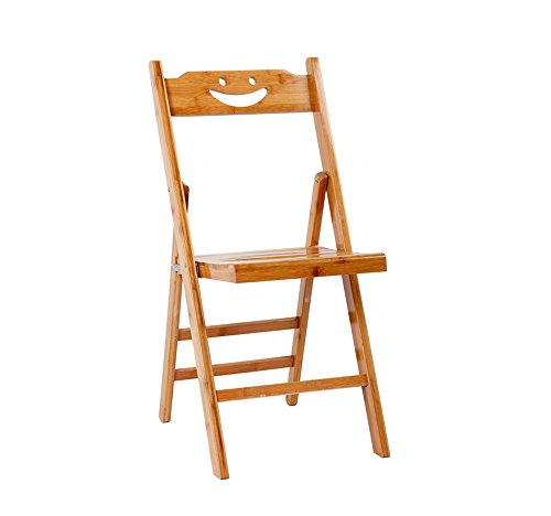 Bamboo folding chair / backrest chair / solid wood simple folding chair / dormitory single chair / stool / child folding chair / solid wood chair / two sizes/(3357cm , 3779cm) ( Size : 3779cm ) by Folding Chair