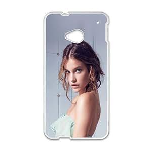 HTC One M7 Cell Phone Case White hf39 barbara palvin sexy dress model angel Azqye