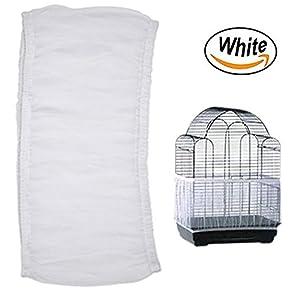 Bonaweite Mesh Bird Seed Catcher, Birds Cage Net Cover, Soft Nylon Skirt with Adjustable Drawstring 38