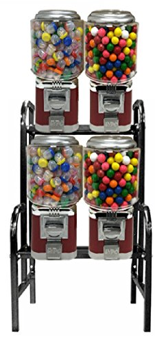 Classic 4 Unit Gumball Candy Machine with Step Stand