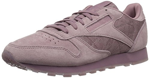 Reebok Women's CL LTHR LACE Sneaker, Smoky Orchid/White, 8 M US